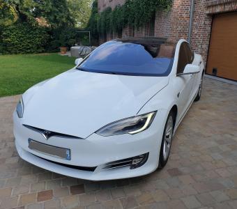 Tesla Model S 75 D blanc 1ère main + Autopilot